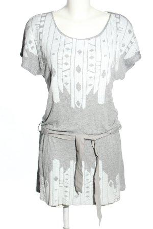 Hayward Jerseykleid hellgrau-weiß grafisches Muster Casual-Look