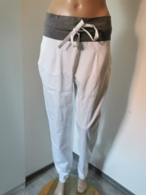 Hayward Peg Top Trousers white-grey cotton