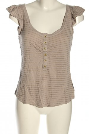 Hooch Frill Top brown-bronze-colored casual look