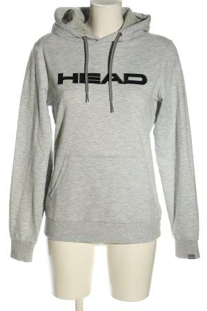 Head Kapuzensweatshirt hellgrau-schwarz meliert Casual-Look