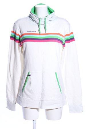 Head Hooded Sweatshirt striped pattern casual look