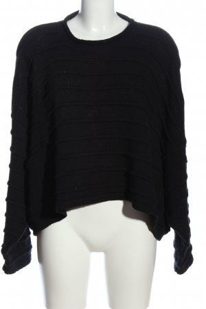 Head over heels Grobstrickpullover schwarz Casual-Look