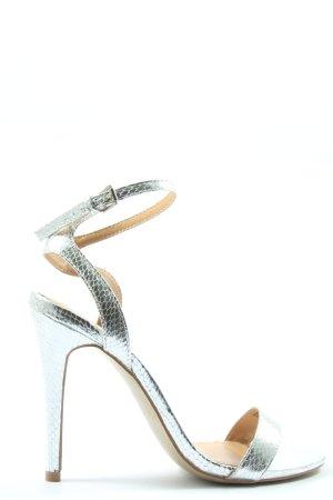 Head over heels Sandalias de tacón alto color plata elegante