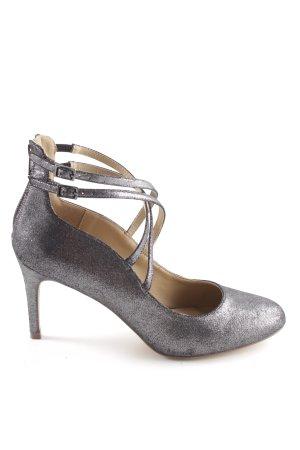 Head over heels Riemchenpumps silberfarben Business-Look