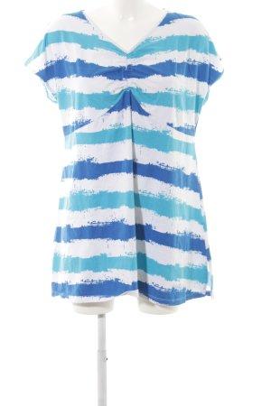 Head over heels V-Ausschnitt-Shirt Streifenmuster Beach-Look