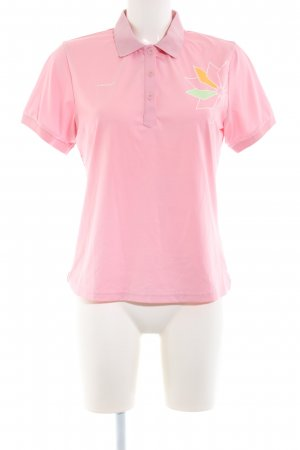 Head Polo-Shirt pink Motivdruck Casual-Look