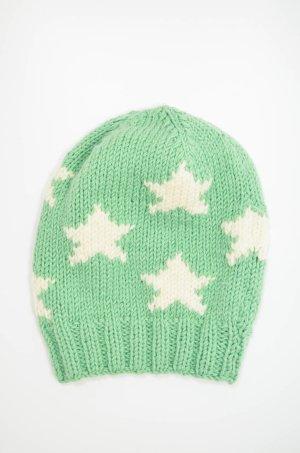 Headhunter Chapeau en tricot vert menthe-blanc cassé laine