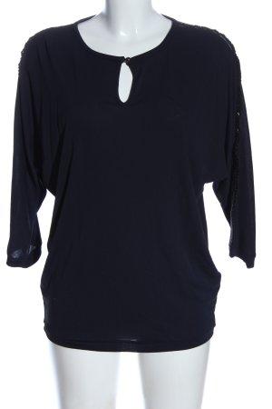 heart Langarm-Bluse blau Casual-Look