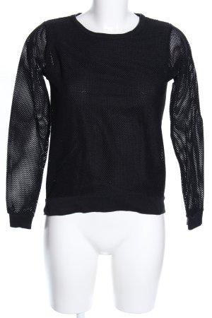 heart Camisa de malla negro look casual