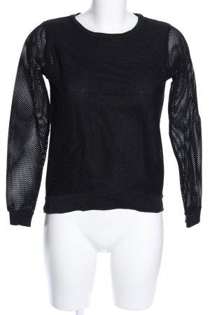 heart Netzshirt schwarz Casual-Look