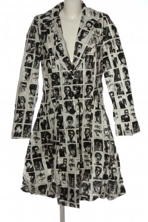 heart Heavy Raincoat white-black allover print casual look