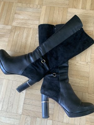 Heart&Sole Stiefel/Heels - Black/Gold - Größe 36 - MaterialMix