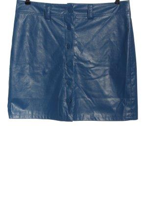 Heartbreak Faux Leather Skirt blue extravagant style
