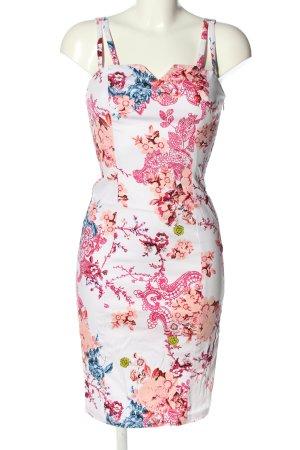 Hearts & Roses Bleistiftkleid weiß-pink Allover-Druck Casual-Look