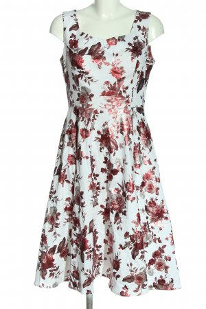 Hearts & Roses Midi Dress white-red allover print casual look