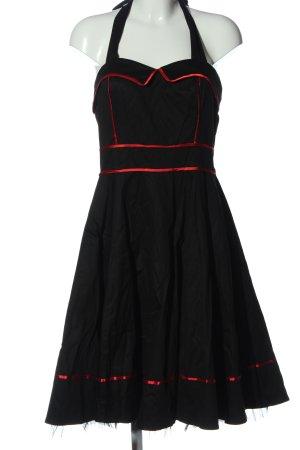Hearts & Roses Midikleid schwarz-rot extravaganter Stil