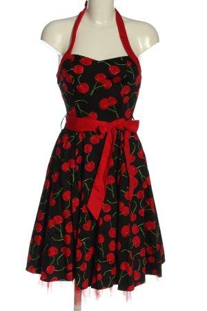 Hearts & Roses Halter Dress black-red allover print elegant