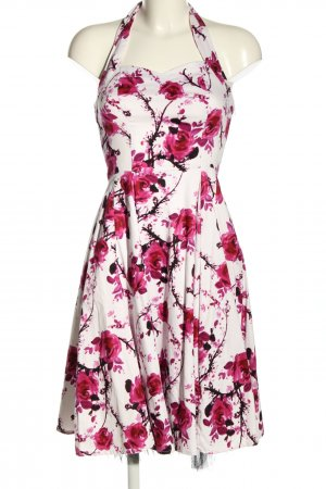 Hearts & Roses Sommerkleid weiß-pink Blumenmuster Elegant