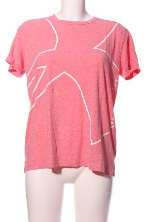 heatgear Print-Shirt rot-weiß meliert Casual-Look