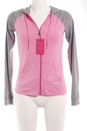 heatgear Sportjacke rosa-grau sportlicher Stil