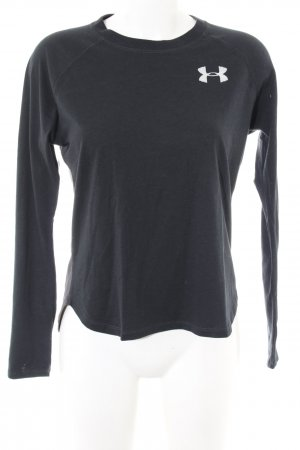 heatgear Sweatshirt schwarz-hellgrau meliert Casual-Look