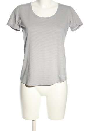 heatgear T-Shirt hellgrau Streifenmuster Casual-Look