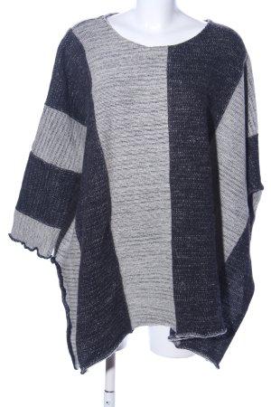 Hebbeding Poncho grigio chiaro-nero puntinato stile casual