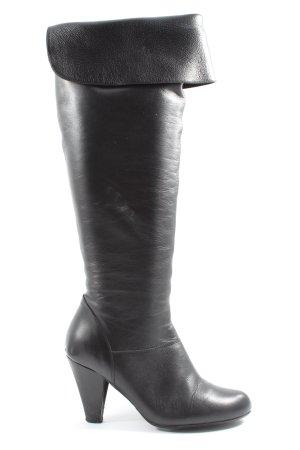hecho en espana Botas sobre la rodilla negro look casual