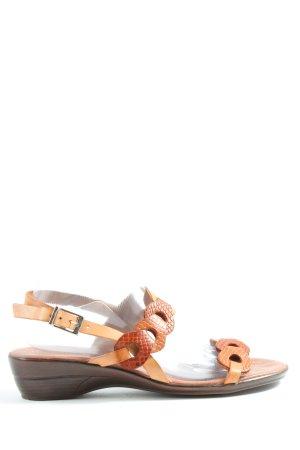 hecho en espana Sleehaksandalen bruin dierenprint casual uitstraling