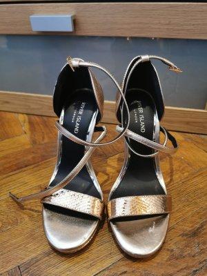 Heels Sandaletten Rosegold