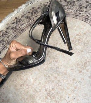 Heels Silber high heels 39 grau