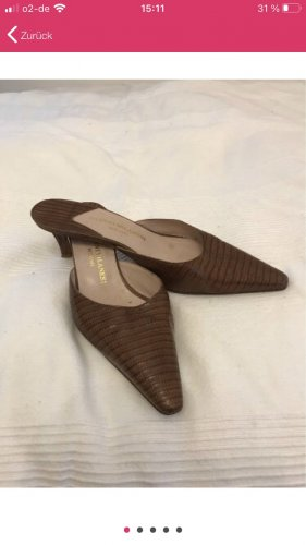 Gianni Milanesi Zapatos de punta marrón Cuero