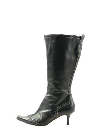 hego's Bottes à tige large noir style décontracté