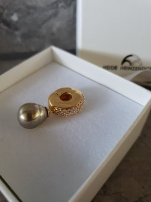 Pendant bronze-colored-gold-colored real silver
