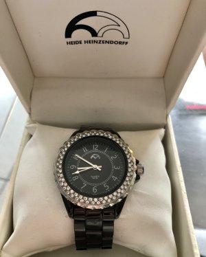 Heide Heinzendorff Watch With Metal Strap black-silver-colored