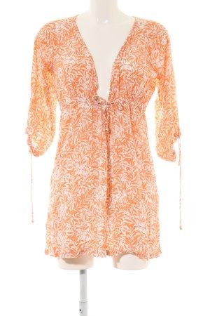 Heidi klein Tuniekjurk licht Oranje-wolwit volledige print casual uitstraling