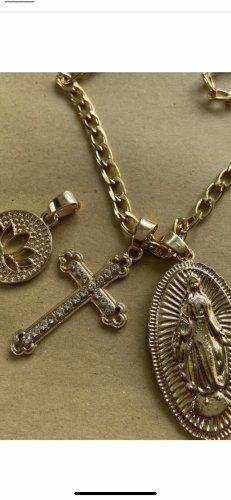 Heilige Maria Halskette mit 4 Anhänger neu