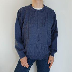 Heim 52 Blau Cardigan Strickjacke Oversize Pullover Hoodie Pulli Sweater Top True Vintage