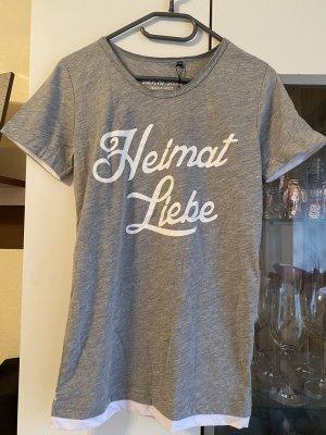 Heimat Liebe Shirt // Grau // Größe XXS unisex