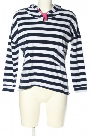 Heimatliebe Camicia con cappuccio blu-bianco motivo a righe stile casual