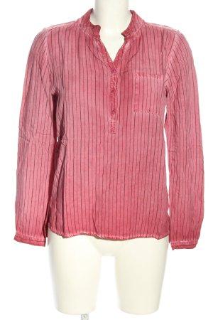 Heimatliebe Schlupf-Bluse pink-schwarz Streifenmuster Casual-Look