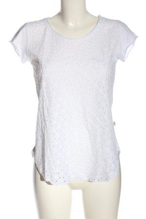 Heimatliebe Boothalsshirt wit casual uitstraling