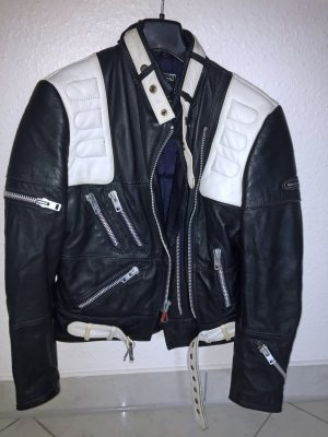 Biker Jacket white-black leather