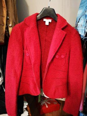 Heine Blazer en laine rouge
