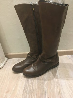 Andrea Conti Botas estilo militar marrón-marrón oscuro Cuero