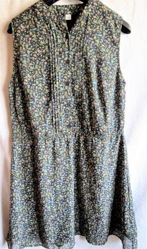 Aniston Robe chemise noir-vert forêt polyester