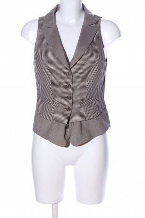 Heine Waistcoat brown-natural white check pattern business style
