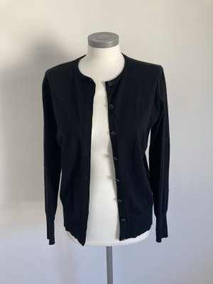 Heine Ashley Brooke Jacke Weste Cardigan Strickjacke schwarz Steine 38 M