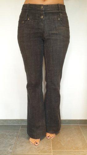 Heine Pantalon pattes d'éléphant noir coton