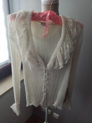 Ashley Brooke Ruffled Blouse natural white
